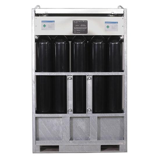 Saf Karbondioksit 525 kg - Dip Çubuklu Manifold ( 15 Tüp)